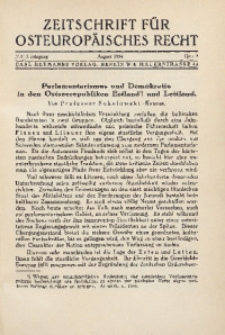 Zeitschrift für osteuropäisches Rech. Im Auftrage des Osteuropa-Instituts in Breslau, 1934, Jg. 1, H. 2