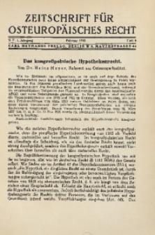 Zeitschrift für osteuropäisches Rech. Im Auftrage des Osteuropa-Instituts in Breslau, 1935, Jg. 1, H. 8