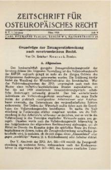 Zeitschrift für osteuropäisches Recht. Im Auftrage des Osteuropa-Instituts in Breslau, 1935, Jg. 1, H. 9