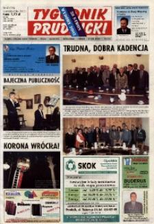 Tygodnik Prudnicki : gazeta lokalna gmin : Prudnik, Biała, Głogówek, Korfantów, Lubrza, Strzeleczki, Walce. R. 13, nr 42 (620)..