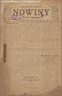 Nowiny, 1917, R. 7, nr 1