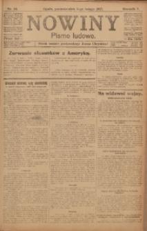 Nowiny, 1917, R. 7, nr 18