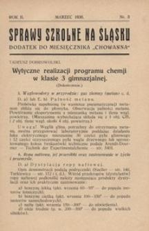Sprawy szkolne na Śląsku, 1936, R. 2, nr 3