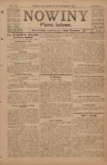 Nowiny, 1917, R. 7, nr 177