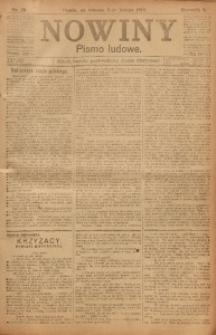 Nowiny, 1918, R. 8, nr 20