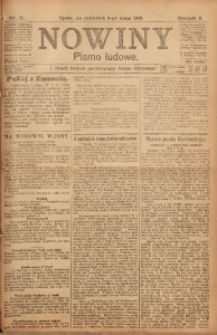 Nowiny, 1918, R. 8, nr 71