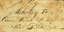 Dowody do akt urodzeń i chrztu za 1834 r. - alegata