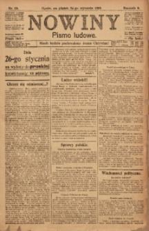 Nowiny, 1919, R. 9, nr 19