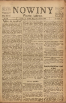 Nowiny, 1919, R. 9, nr 84