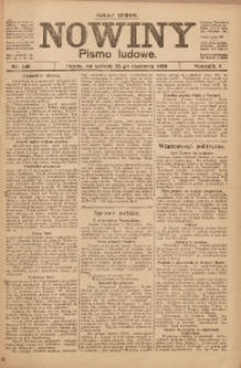Nowiny, 1919, R. 9, nr 140