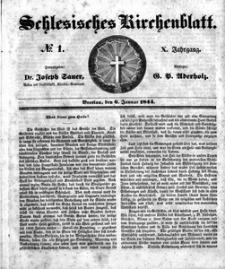 Schlesisches Kirchenblatt, 1844, Jg. 10, nr 1