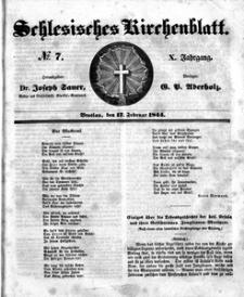 Schlesisches Kirchenblatt, 1844, Jg. 10, nr 7
