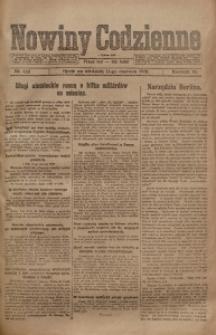 Nowiny Codzienne, 1920, R. 10, nr 122