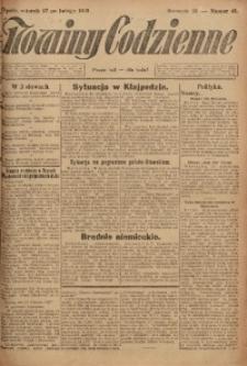 Nowiny Codzienne, 1923, R. 13, nr 46