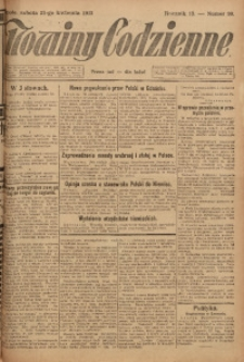 Nowiny Codzienne, 1923, R. 13, nr 90