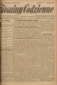 Nowiny Codzienne, 1923, R. 13, nr 134