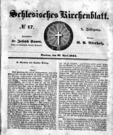 Schlesisches Kirchenblatt, 1844, Jg. 10, nr 17