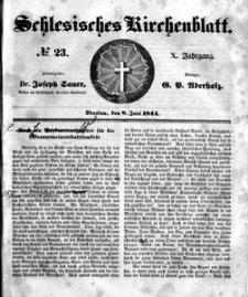 Schlesisches Kirchenblatt, 1844, Jg. 10, nr 23