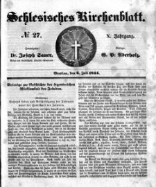 Schlesisches Kirchenblatt, 1844, Jg. 10, nr 27