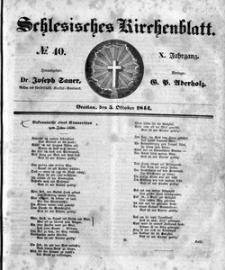 Schlesisches Kirchenblatt, 1844, Jg. 10, nr 40