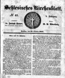 Schlesisches Kirchenblatt, 1844, Jg. 10, nr 41