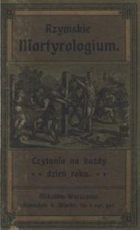 Rzymskie martyrologium. Czytania na każdy dzień roku