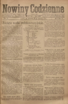 Nowiny Codzienne, 1920, R. 10, nr 71