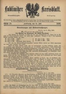 Lublinitzer Kreisblatt, 1894, Jg. 51, St. 28