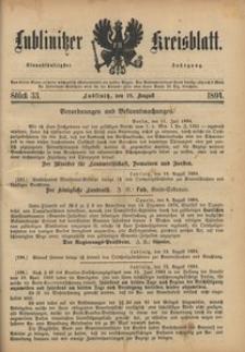 Lublinitzer Kreisblatt, 1894, Jg. 51, St. 33