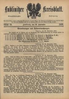 Lublinitzer Kreisblatt, 1894, Jg. 51, St. 39