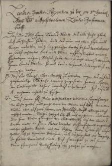 Landes-Ambts-Propositionen zu der pro 3-t[ert]io Januarii Anno 1735 ausgeschraibenen Landes Zusam[m]enkunfft bis zu den, bey der den 20-ten November 1744 gehaltenen Landes-Zusam[m]enkunfft erfolgten Resoluta