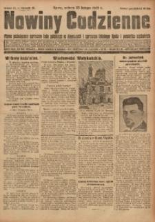 Nowiny Codzienne, 1929, R. 19, nr 45