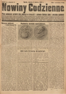 Nowiny Codzienne, 1929, R. 19, nr 51