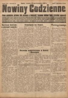 Nowiny Codzienne, 1929, R. 19, nr 250