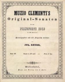 Muzio Clementi's Original-Sonaten für das Pianoforte Solo in 60 Heften. Heft 23, Sonate in H-moll