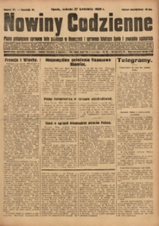 Nowiny Codzienne, 1929, R. 19, nr 97