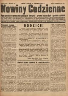 Nowiny Codzienne, 1929, R. 19, nr 196