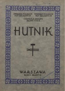 Hutnik, 1930, R. 2, z. 8