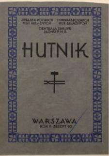 Hutnik, 1930, R. 2, z. 10