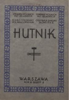 Hutnik, 1931, R. 2, z. 8