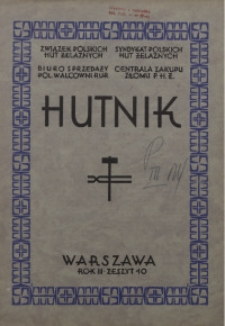 Hutnik, 1931, R. 2, z. 10