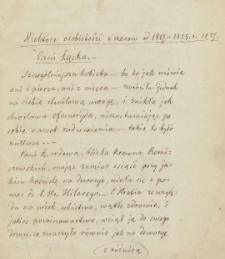 Fragmenty wspomnień Wojciecha Miziewicza z lat 1817-1878