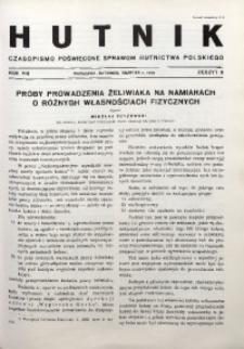 Hutnik, 1936, R. 8, z. 8