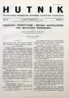 Hutnik, 1937, R. 9, z. 2