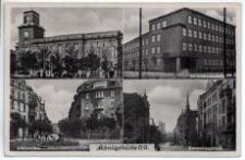 Königshütte O/S. Rathaus. Eichendorffschule. Blücherplatz. Kattowitzerstrasse