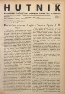 Hutnik, 1946, R. 13, z. 5