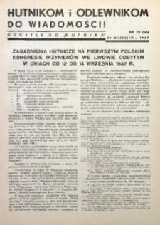 Hutnikom i Odlewnikom do Wiadomości! 1937, Nr. 33