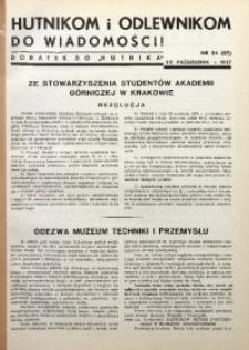 Hutnikom i Odlewnikom do Wiadomości! 1937, Nr. 34