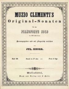 Muzio Clementi's Original-Sonaten für das Pianoforte Solo in 60 Heften. Heft 29, Sonate in F-dur