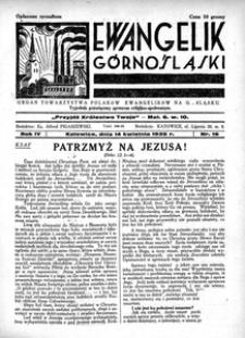 Ewangelik Górnośląski, 1935, R. 4, nr 16